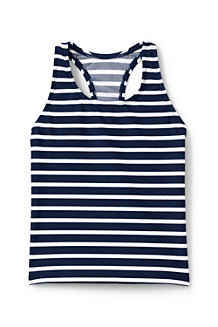 Girls' Essential Stripe Racer-back Tankini Top