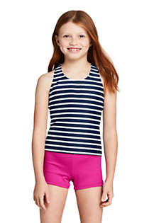 Little Girls Racerback Tankini Top, Front