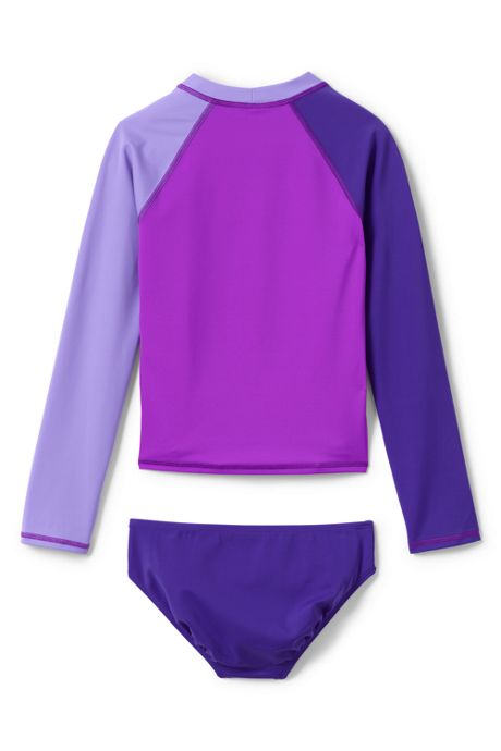 Little Girls Colorblock Rash Guard Set