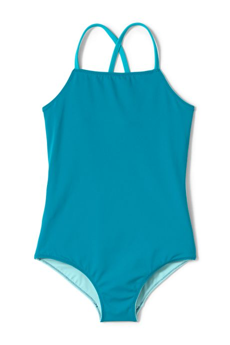 Little Girls Reversible Graphic One Piece Swimsuit