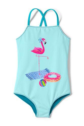 Gemusterter Badeanzug zum Wenden für große Mädchen