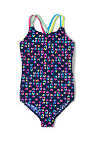 Little Girls Cross Back One Piece Swimsuit