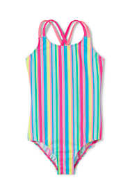 Girls Cross Back One Piece Swimsuit