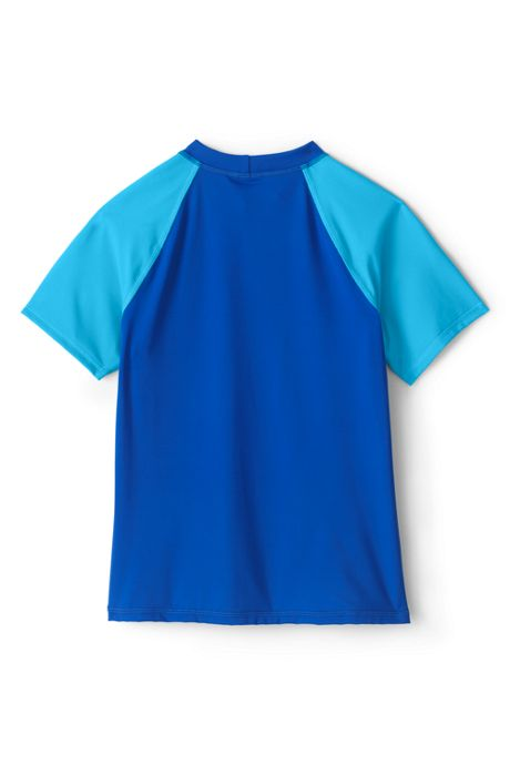Girls Slim Print Mock Neck Rash Guard