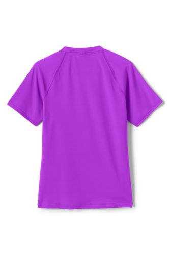Girls Slim Print Mock Neck UPF 50 Sun Protection Rash Guard
