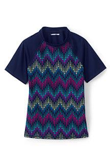 T-Shirt Protection Solaire à Motifs, Fille