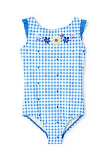 Girls' Graphic Prairie Life Ruffle Shoulder Swimsuit