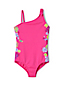 Girls' Graphic Tie Shoulder Swimsuit