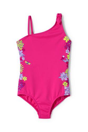 Badeanzug Grafik mit Schulterschleife für große Mädchen