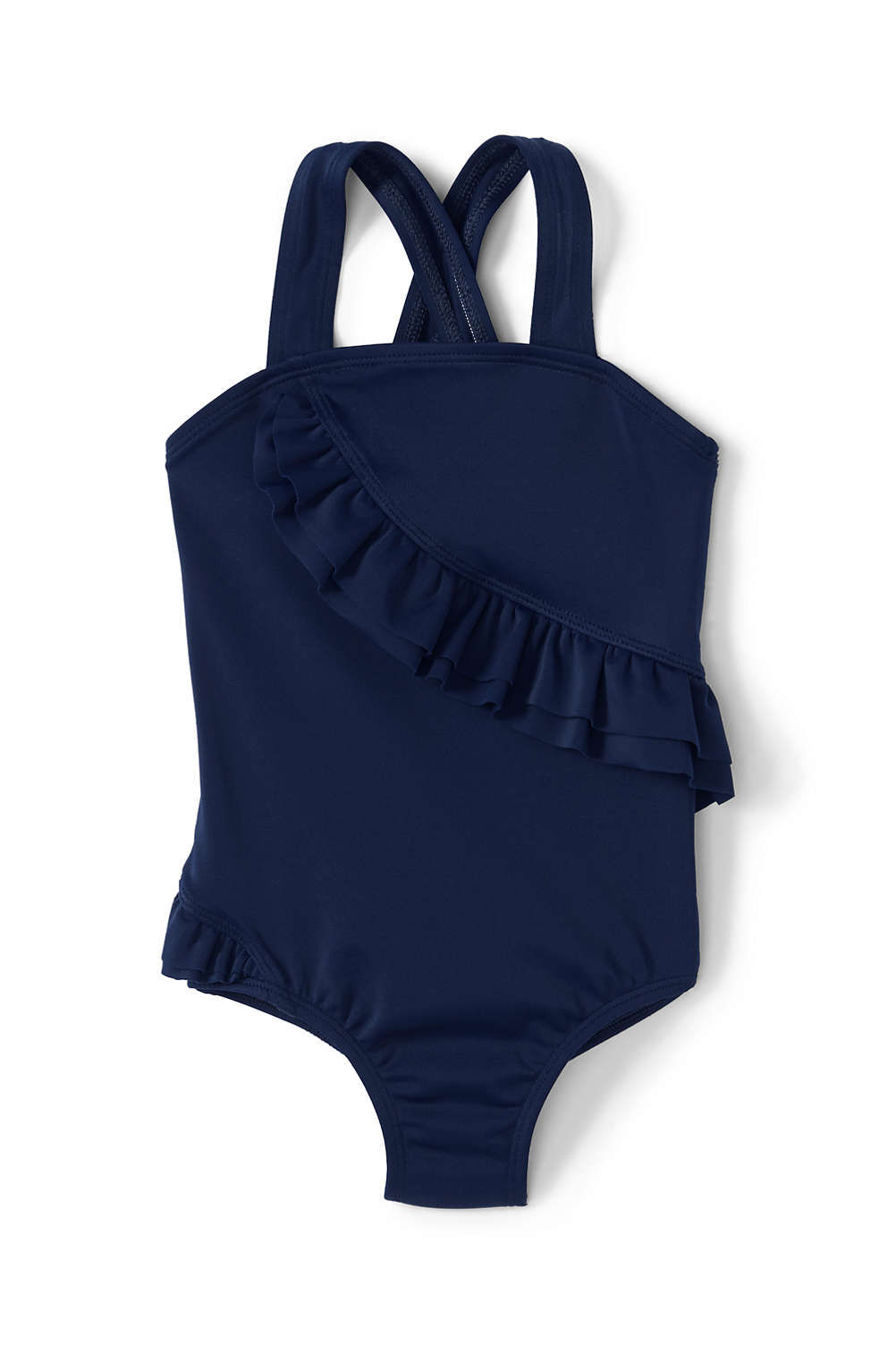 f1b5ed406402d Toddler Girls One Piece Ruffle Swimsuit from Lands' End