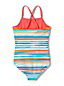 Girls' Reversible Stripe Swimsuit