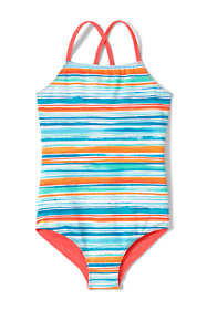 Little Girls Reversible Print One Piece Swimsuit