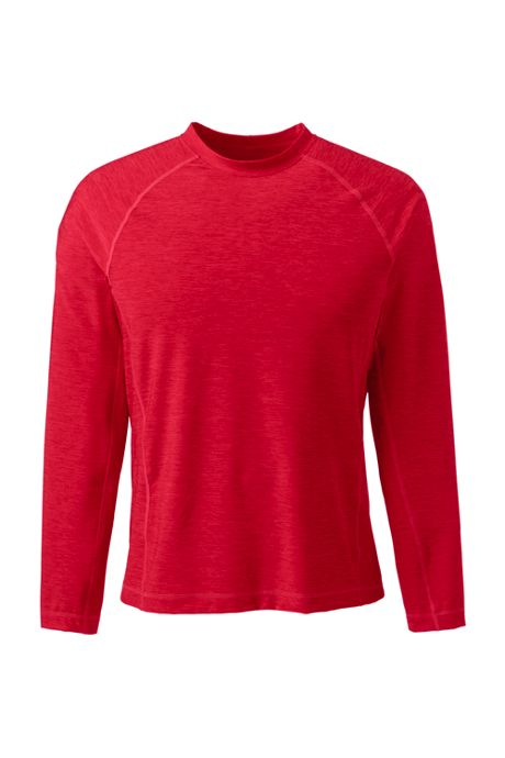 Men's Spacedye Long Sleeve Swim Tee Rash Guard