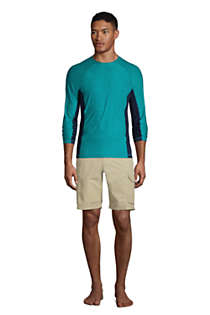 Men's Long Sleeve Space Dye Swim Tee Rash Guard, alternative image