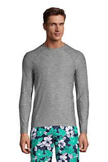 Men's Long Sleeve Space Dye Swim Tee Rash Guard, Front