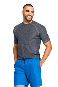 Men's Spacedye Short Sleeve Swim Tee Rash Guard
