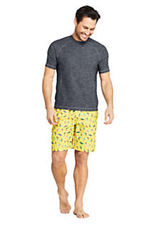 Men's Spacedye Short Sleeve Swim Tee Rash Guard, alternative image