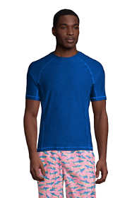 Men's Tall Spacedye Short Sleeve Swim Tee Rash Guard