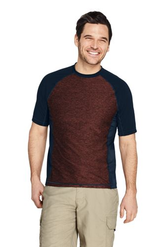 Lands' End Men's Spacedye Rash Guard Swim T-Shirt (2 color options)