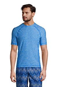 Protection Speed Mens Long Sleeve Space Dye Rash Guard Swim Shirt with UV and UPF 50