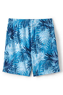 "Men's Big and Tall 8"" Print Volley Swim Trunks, Back"