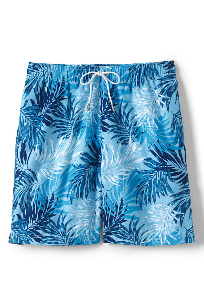 "Men's Big and Tall 8"" Print Volley Swim Trunks, Front"