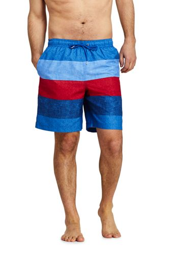 Men's 8-inch Patterned Swim Shorts