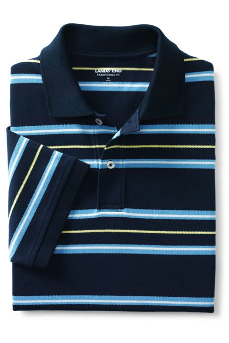 Men's Short Sleeve Comfort First Stripe Mesh Polo