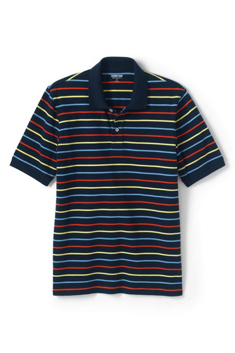 Men's Short Sleeve Stripe Comfort-First Mesh Polo Shirt