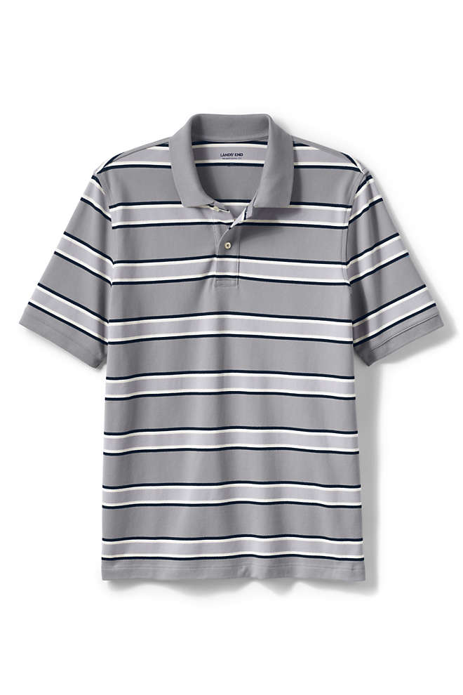 Men's Short Sleeve Stripe Comfort-First Mesh Polo Shirt, Front