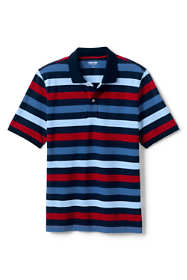 Men's Big and Tall Short Sleeve Stripe Comfort-First Mesh Polo Shirt
