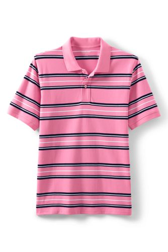 Men's Striped Stretch Piqué Polo Shirt, Traditional Fit