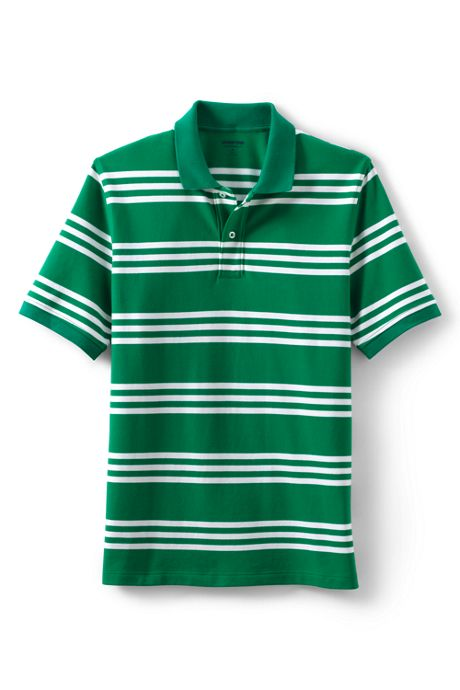 Men's Tall Short Sleeve Comfort First Stripe Mesh Polo