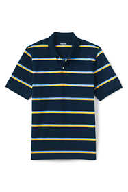 Men's Tall Short Sleeve Stripe Comfort-First Mesh Polo Shirt