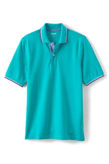 Men's Stretch Piqué Polo Shirt, Traditional Fit