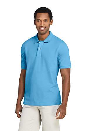 TRADITIONAL FIT WHITE XL //T NEW LANDS END MENS S//S MESH POLO SHIRT TALL