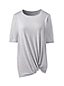T-Shirt Long Active Wear Ourlet Noué, Femme Stature Standard