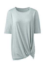 Women's Petite Active Knot Front Tunic