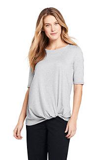 T-Shirt Long Active Wear Ourlet Noué, Femme