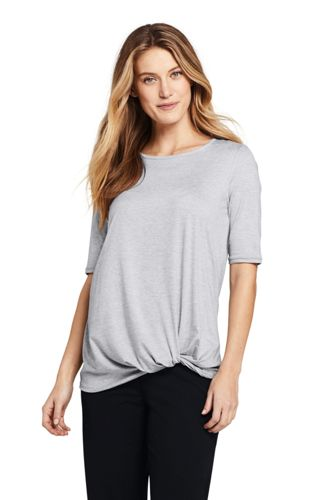 Langes Shirt mit Knoten ACTIVE für Damen