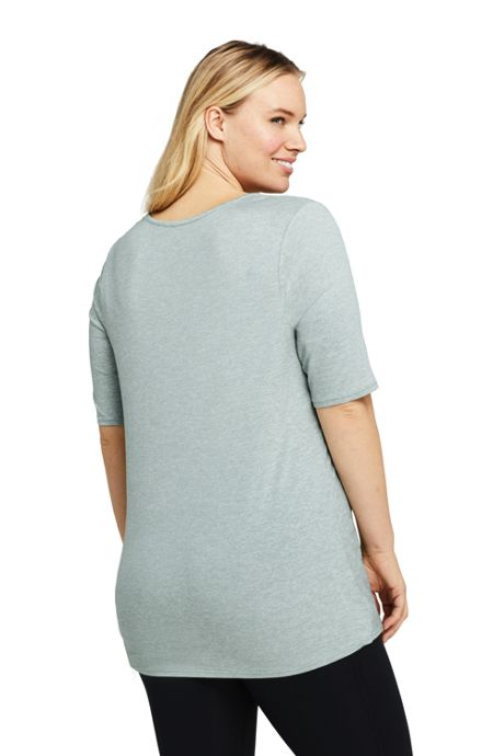 Women's Plus Size Active Knot Front Tunic