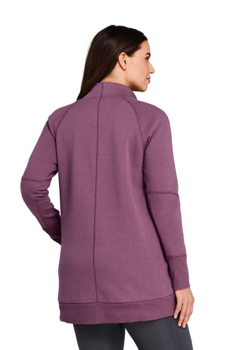 Women's Plus Size Active Funnel Neck Tunic