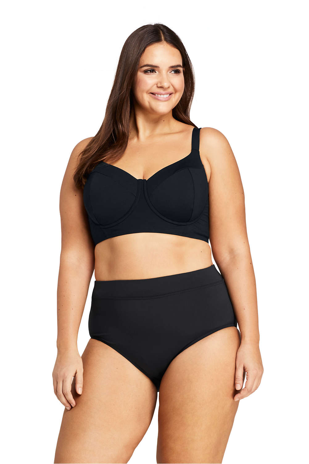dfa3c1ed5fc1ce Women s Plus Size Underwire Midkini Top Swimsuit from Lands  End