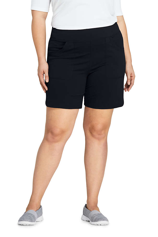 Women's Plus Size Active Pocket Shorts, Front