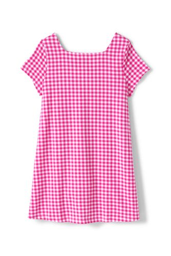 Girls Plus Pattern Gathered Yoke Tunic Top