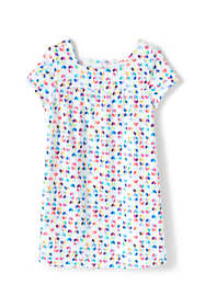 Girls Pattern Gathered Yoke Tunic Top
