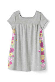 Girls Graphic Gathered Yoke Tunic Top
