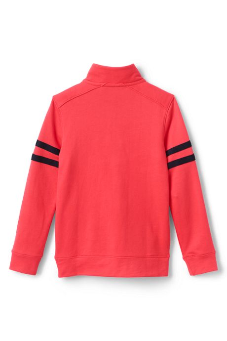 Boys Husky Half Zip French Terry Mock Neck Top