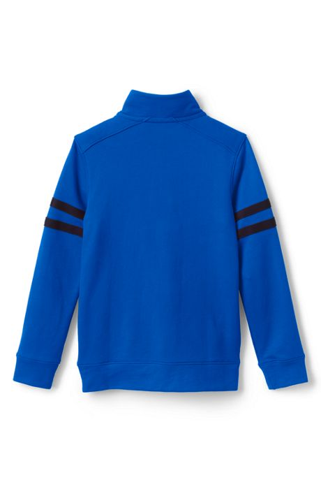 Boys Half Zip French Terry Mock Neck Top