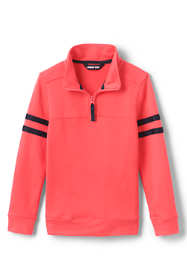 Boys Husky Quarter Zip French Terry Mock Neck Top